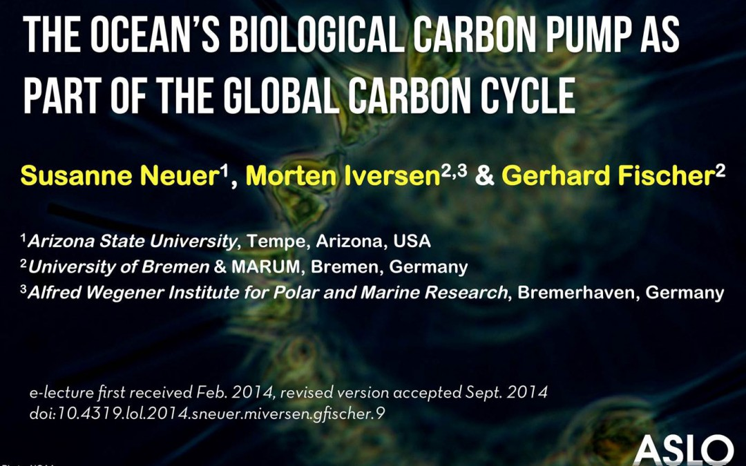 ASLO e-lecture on the Biological Carbon Pump available